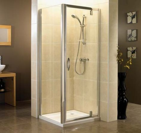 April Identiti2 Pivot Shower Door Polished Silver 840mm - 890mm APRILPIV01_1_1